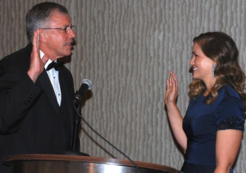 Sally Pretorius Getting Sworn In