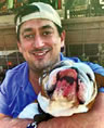 Alexander Hughes and his dog