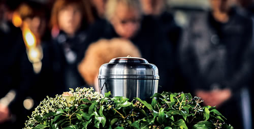 Picture of People at a Cremation Funeral