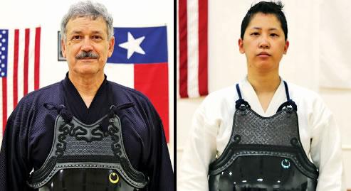 Mark Kerstein is a sixth-degree black belt in Kendo and a  third-degree black belt in iaido. Shamina Chang is a fourth-degree black    belt in Kendo and a first-degree black belt in iaido.