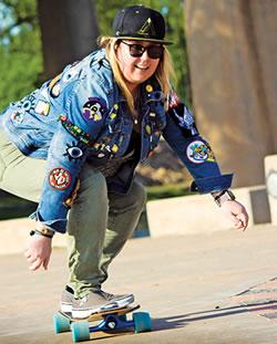 Picture of Libby Ferguson Skateboarding