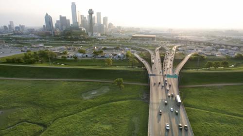 Road Leding Up to City