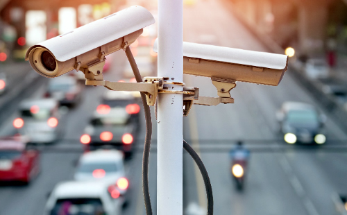 A picture of Traffic and Traffic Camera