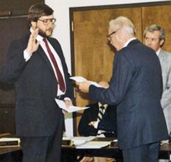 Tom Vick Getting Sworn in as Mayor of Weatherford