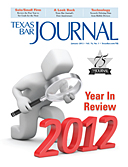 January 2013 TBJ - cover