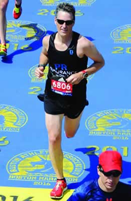 Brian Coolidge At the Finish Line of a Marathon